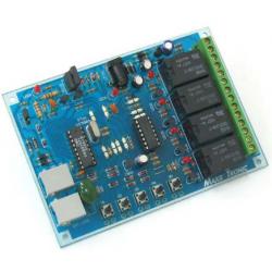 Kit para montar un control remoto de 4 canales para la línea telefónica