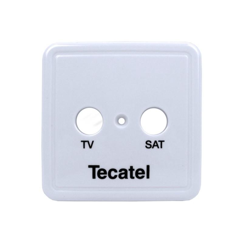 Carátula para tomas de 2 salidas Tecatel