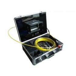 """Kit inspección de tuberias 30m Camara IR regulable monitor 7"""" bateria recargable"""