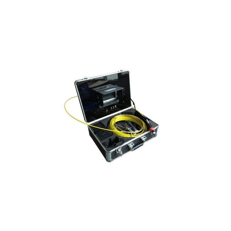 """Kit de inspección de tuberías con monitor de 7"""" y maleta de transporte"""
