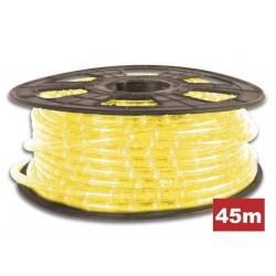 Manguera luminosa de 45 metros y de color amarillo Cortes cada 1 metro