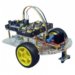 Kit para montar un robot seguidor de líneas negras sin soldadura