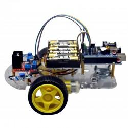 Kit para montar un robot sorteador de obstáculos por IR, sin soldadura