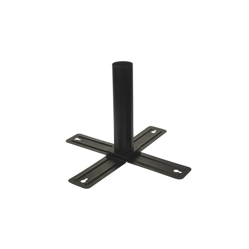 Soporte para tubo fluorescente para serie NLROD de acero y color negro