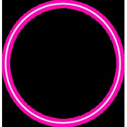 Pareja de círculos luminosos de neón rosas: 30 centímetros de diámetro