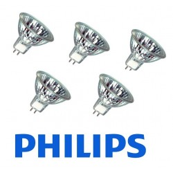 Pack 5 bombillas Halógenas Philips MR16 12V / 50 w
