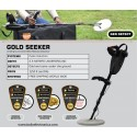 Detector de oro Gold Seeker con inducción de pulsos y alcance hasta 3,5m