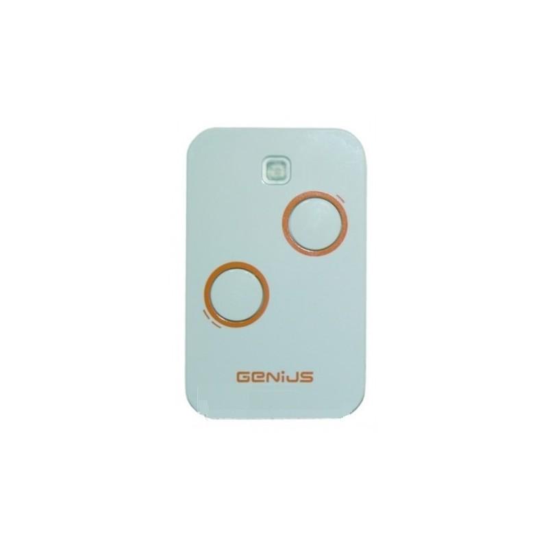 Mando de garaje original con 2 botones y de 433 MHz GENIUS TX2 JLC 433