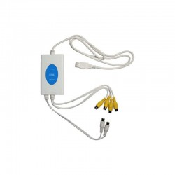 Tarjeta capturadora USB 4 canales  video,y 2 canales de audio