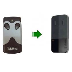 Mando de garaje original de 2 botones y con 433.92 MHz TELCOMA NOIRE2E