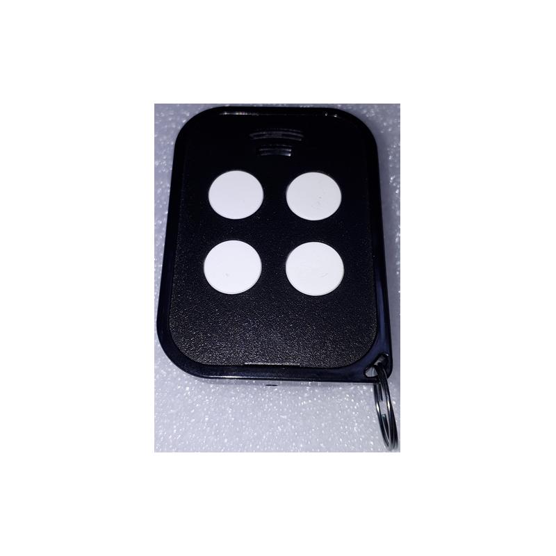 Carcasa de mando de garaje de 4 botones para sustitución y color negro