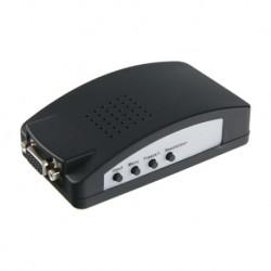 Adaptador señales de video RCA y S-Vídeo a VGA