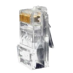 Conector RJ45 de categoría 6 para crimpar compatible con cable UTP