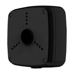 Caja de conexiones negra para cámaras bullet o domo | 56 x 134 mm