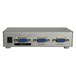 Multiplicador de señal video VGA de 1 a 2 salidas, con amplificacion