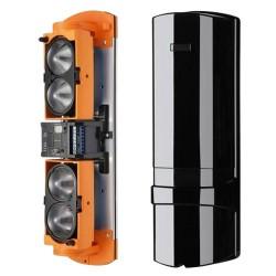 Barrera infrarroja cableada de cuatro haces 450/150m + salida relé