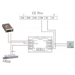 Terminal de control de presencia y acceso de alto rendimiento WIFI PoE