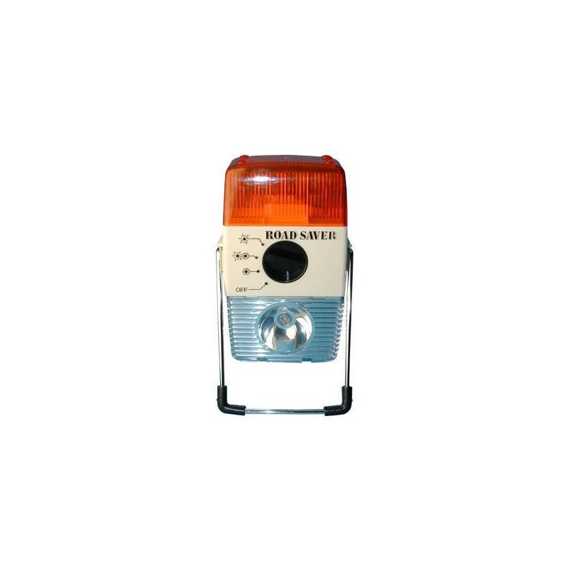 Linterna multifunción para coche con luz blanca o naranja intermitente