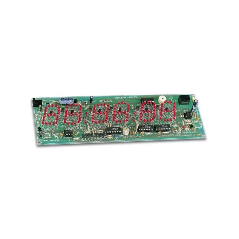 Kit para montar reloj multifunción con fecha y sensor de temperatura