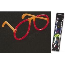 Gafas luminosas de color rojo y 0.5 x 20 cm de diámetro