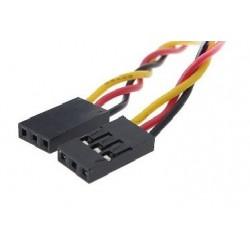 Cable dupont de 20cm de 3 vías 2.54 mm hembra-hembra para Arduino