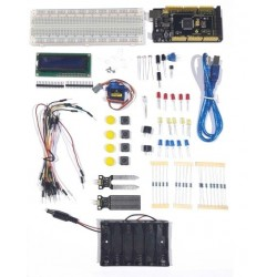 Kit educativo basado en Arduino Mega con componentes para proyectos
