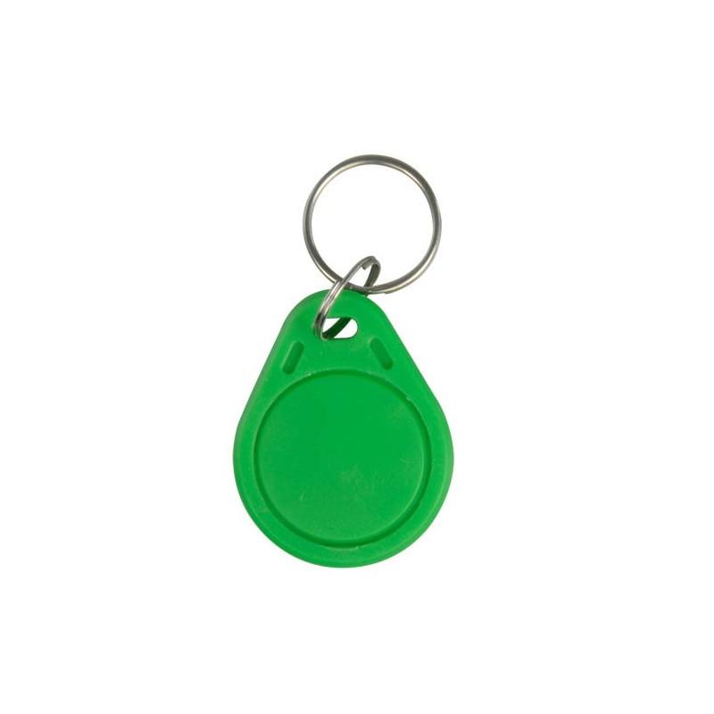 Llavero TAG de proximidad por RFID pasivo a 125 KHz de color verde