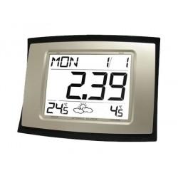 Reloj digital y estación meteorológica con alarma