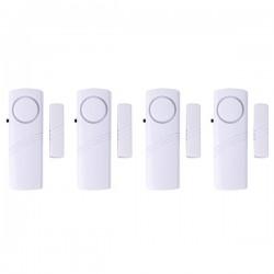 Detector de puertas y ventanas con alarma avisadora a pilas (4 juegos)