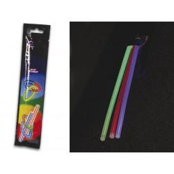 Juego de barras luminiscentes de diferentes colores (3 Unidades) 20 cm