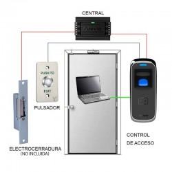 Kit de control de accesos para exterior y anti vandálico sin cerradura