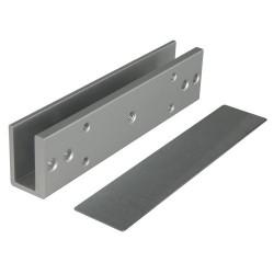 Perfil en U para ventosas electromagnéticas y puertas de cristal sin marco
