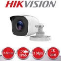 Kit de vigilancia Hikvision: grabador + 2 cámaras de 2 mpx y 2.8mm