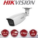 Kit de vigilancia Hikvision: grabador + 2 cámaras de 4 mpx y 2.8~12 mm