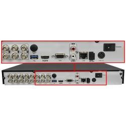 Videograbador Hikvision para 16 cámaras de hasta 8 mpx con un CH audio