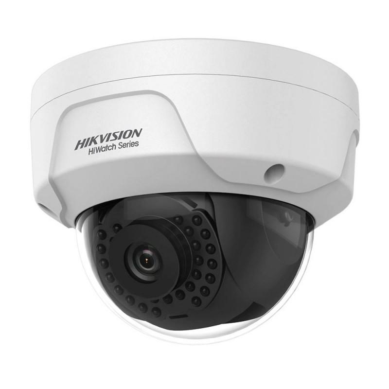 Cámara de seguridad IP Hikvision de 2 mpx, lente 2.8 mm, IK10 con PoE