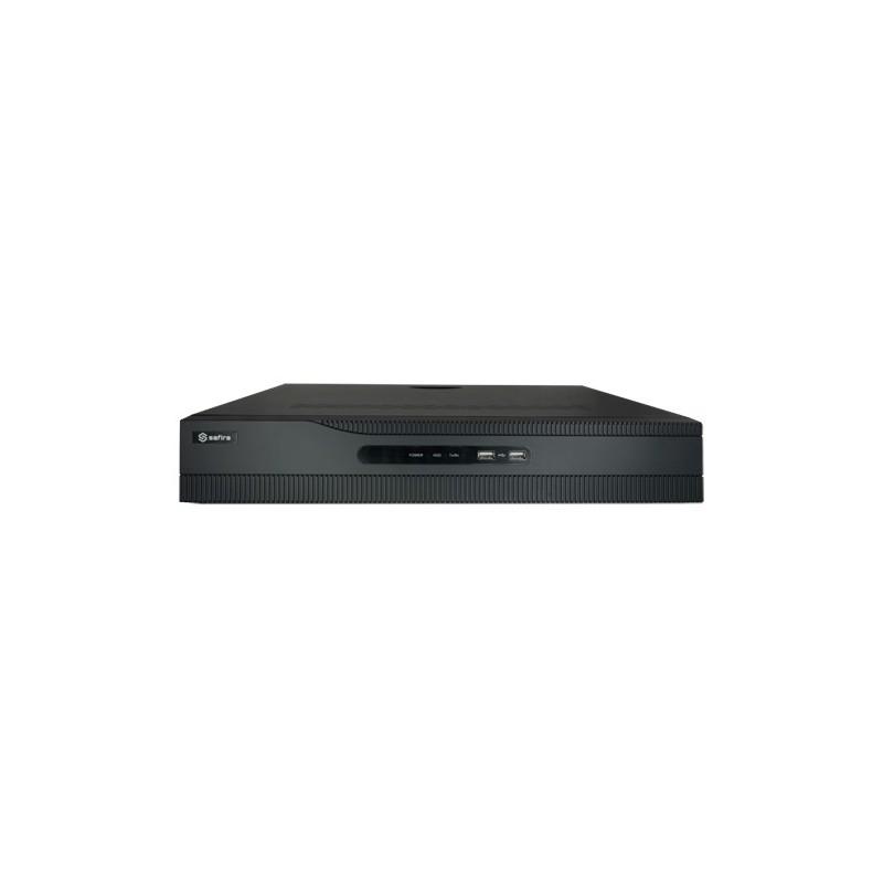 Grabador NVR Safire 16 PoE para 32 cámaras de vigilancia IP de 8 mpx