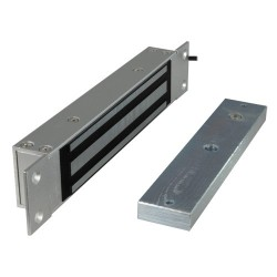 Ventosa electromagnética Fail Safe empotrable para puerta sencilla