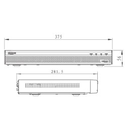 Videograbador NVR Dahua para 32 cámaras de vigilancia de hasta 8 mpx
