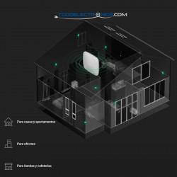 Kit de alarma profesional inalámbrica Ajax con Ethernet y GPRS grado II