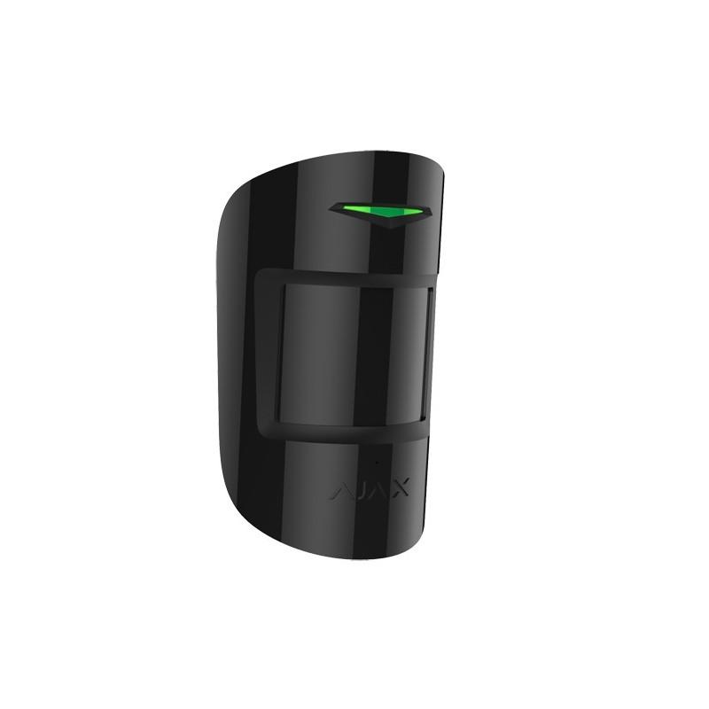 Detector PIR y de rotura de cristal inalámbrico negro para alarma Ajax