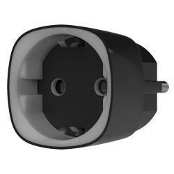 Enchufe inteligente Ajax negro con medidor de consumo y control remoto