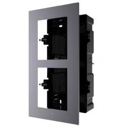 Panel y caja de registro encastrada para 2 módulos videoportero Safire