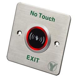 Botón de salida sin contacto con sensor infrarrojo y rango de 4 a 12cm
