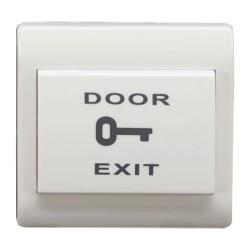 Pulsador de liberación de puerta con doble función NO/NC para empotrar
