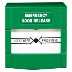Botón de liberación de puerta de emergencia con pulsador de doble polo