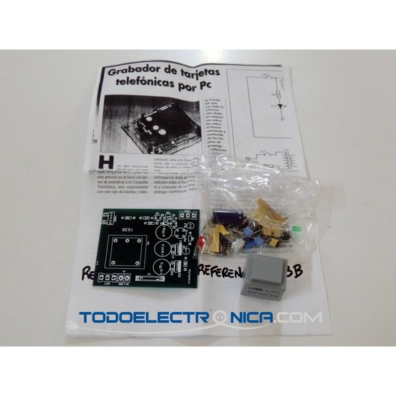 Kit grabador de tarjetas telefónicas por PC