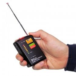 Detector profesional de micrófonos, cámaras y teléfonos por RF de 50 MHz hasta 6.0 GHz