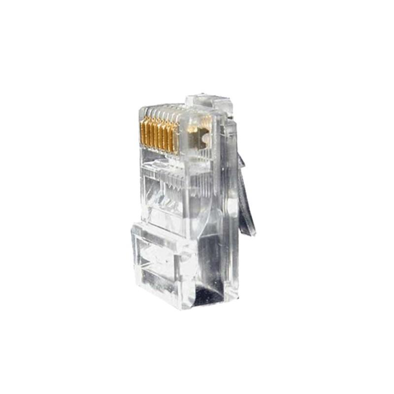 Conector RJ45 para crimpar compatible con cable UTP y peso de 5 gramos
