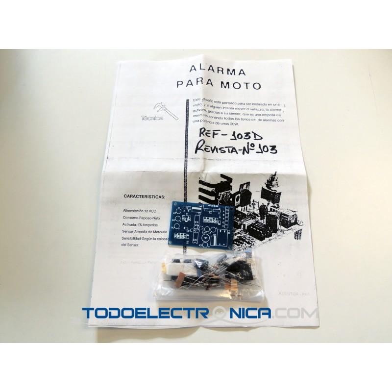 Kit de alarma antirrobo para moto